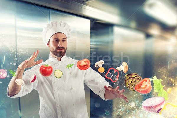 Magic chef ready to cook a new dish Stock photo © alphaspirit