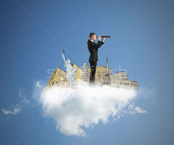 Sonho pesquisar novo destinos empresário sonhos Foto stock © alphaspirit