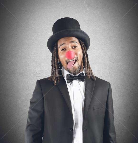 Dressing up as  clown Stock photo © alphaspirit