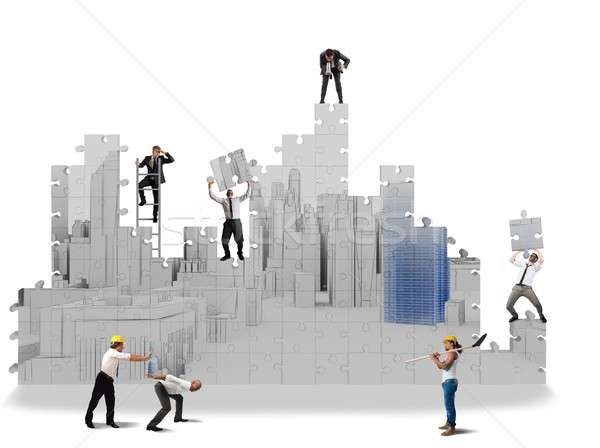 Construir proyectos 3D equipo construcción Foto stock © alphaspirit