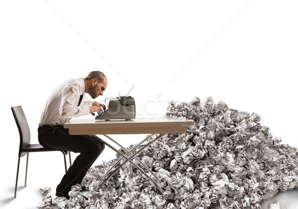 Pile of drafts Stock photo © alphaspirit