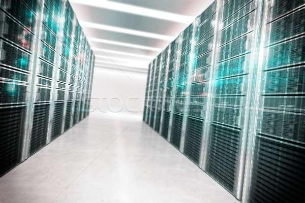 Bazy danych struktury faktyczny pokój komputera bezpieczeństwa Zdjęcia stock © alphaspirit