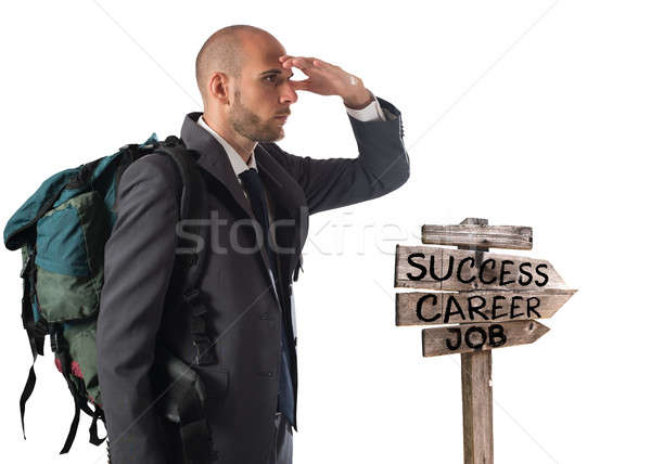 Find the road to business success Stock photo © alphaspirit