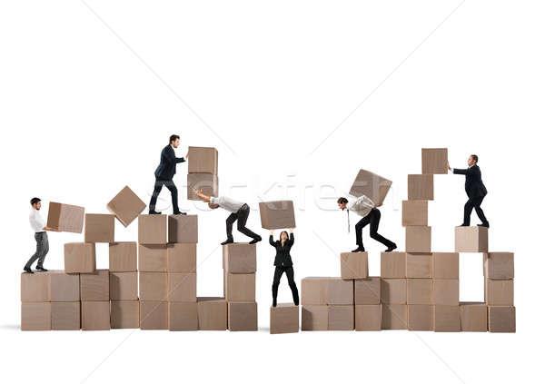 Zespołu budować nowego firmy budowy Zdjęcia stock © alphaspirit