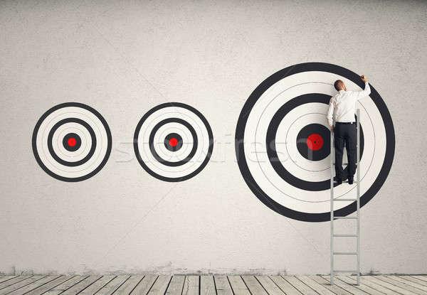 Hitting bigger business target Stock photo © alphaspirit
