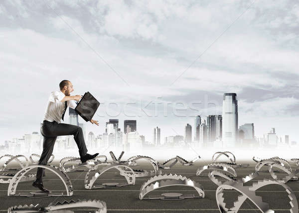 Man run in a thousand difficulties Stock photo © alphaspirit