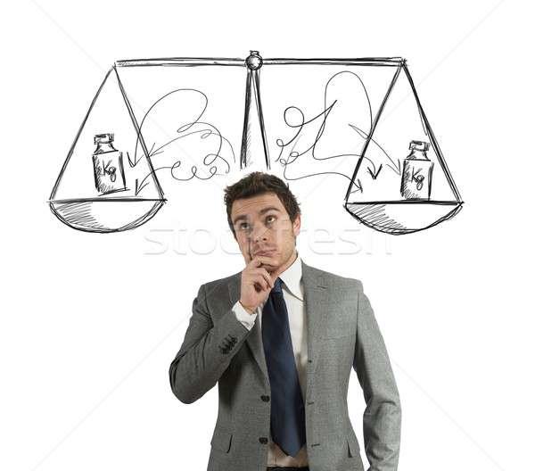 Negócio decisão empresário justiça estresse cabeça Foto stock © alphaspirit