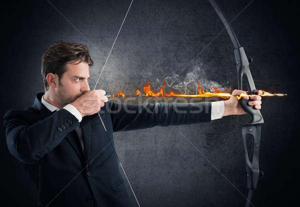 Vigorously hitting the target Stock photo © alphaspirit