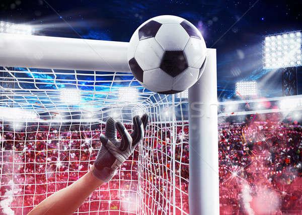 Portero estadio 3D pelota lejos Foto stock © alphaspirit