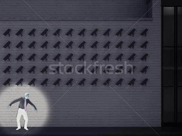 Culprit captured by the cameras. 3D Rendering Stock photo © alphaspirit