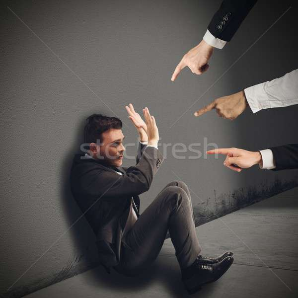 Businessman blamed unfairly Stock photo © alphaspirit