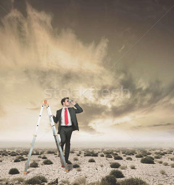 Vállalkozó új néz üzlet szem férfi Stock fotó © alphaspirit