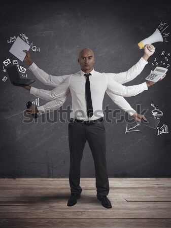 Businessman guilty and scared Stock photo © alphaspirit