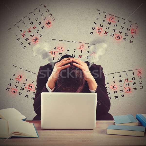 Stressed out by the deadlines Stock photo © alphaspirit