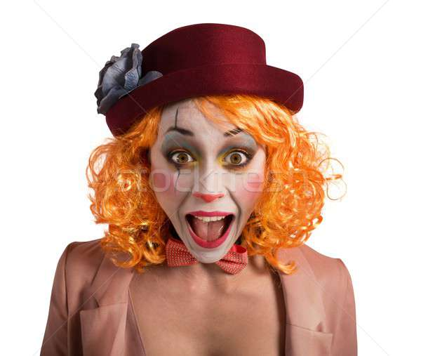 Grimace clown Stock photo © alphaspirit