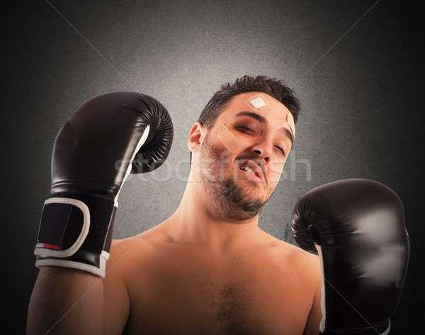 Beaten boxer Stock photo © alphaspirit