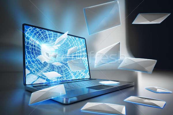 Spam e-mail. 3D Rendering Stock photo © alphaspirit