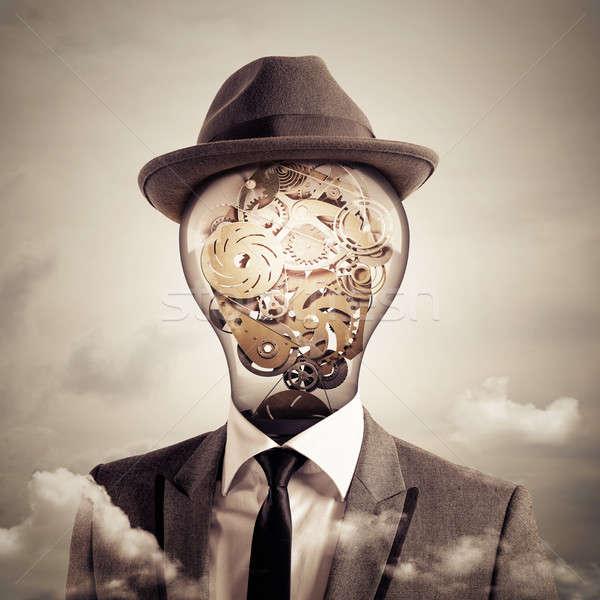 Ingenious head. 3D Rendering Stock photo © alphaspirit