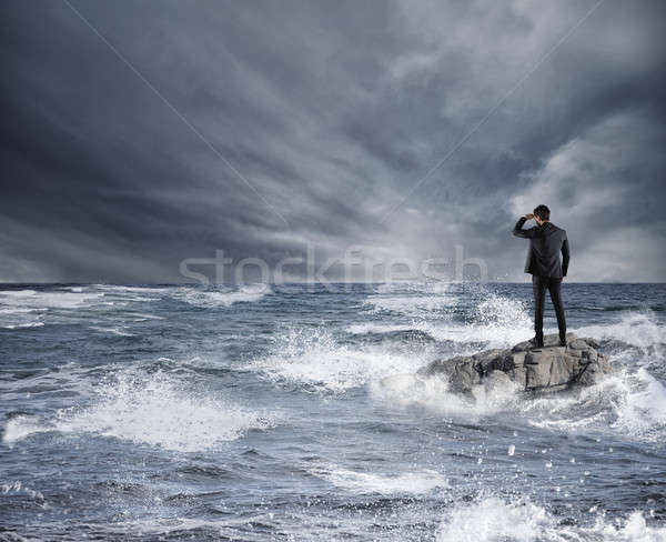 Affaires regarder avenir tempête mer économique Photo stock © alphaspirit