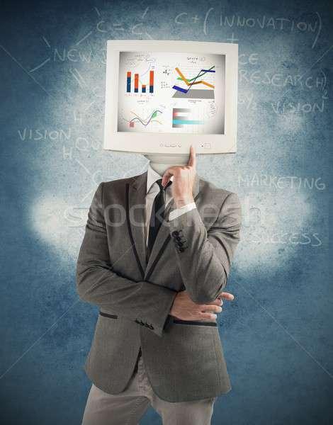 Computer man Stock photo © alphaspirit