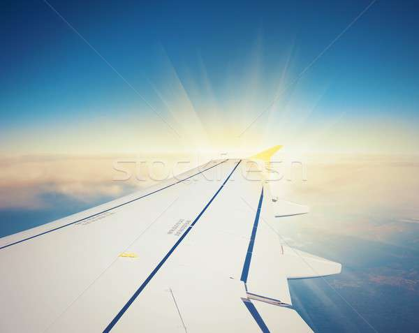 Stock photo: Airliner in flight