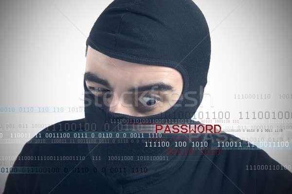 Kennwort Technologie Sicherheit Geschäftsmann Netzwerk Software Stock foto © alphaspirit