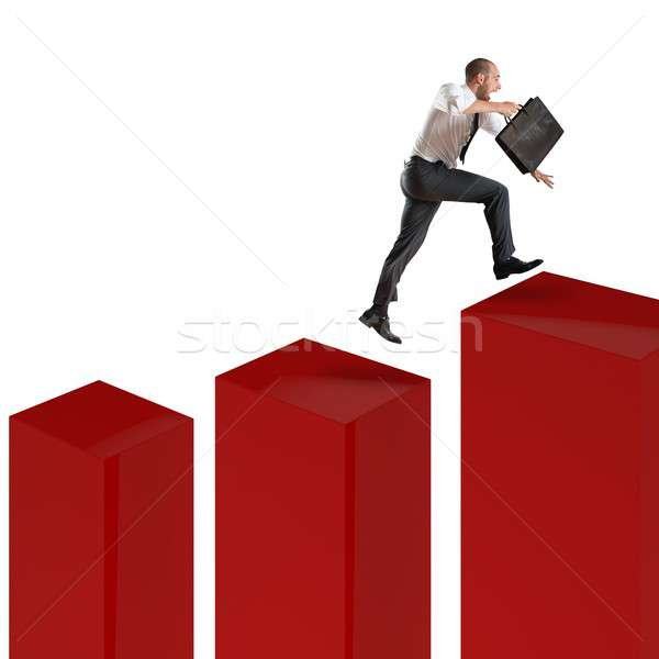 Speed financial climbing Stock photo © alphaspirit