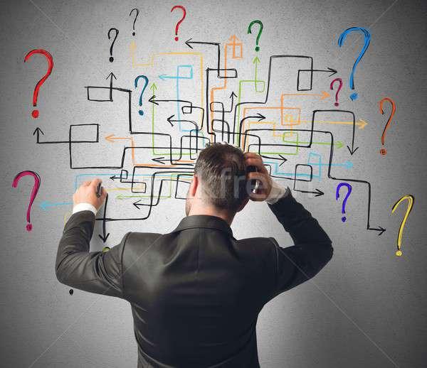 лабиринт вопросы бизнесмен решить помочь вопросе Сток-фото © alphaspirit