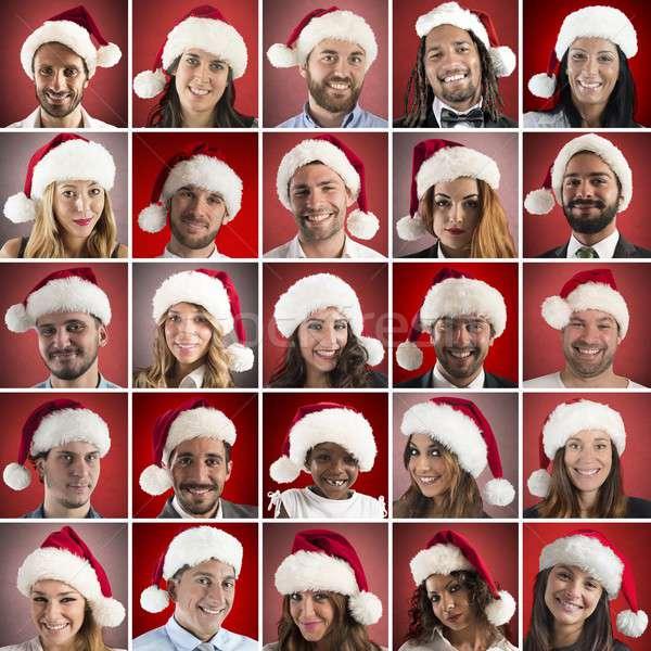 Happy christmas collage Stock photo © alphaspirit