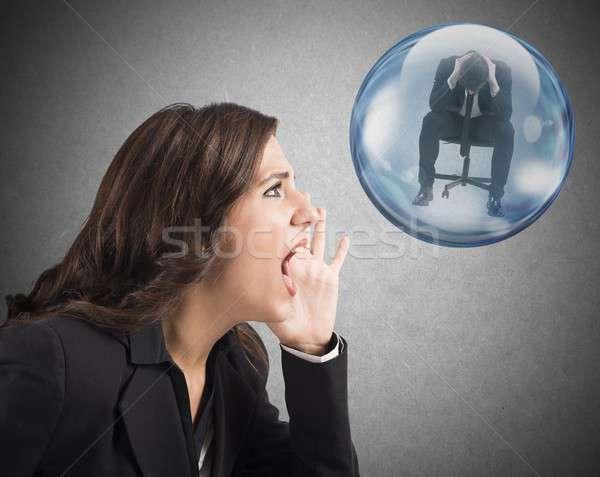 Help a depressed colleague Stock photo © alphaspirit