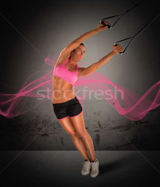 Training with the TRX Stock photo © alphaspirit