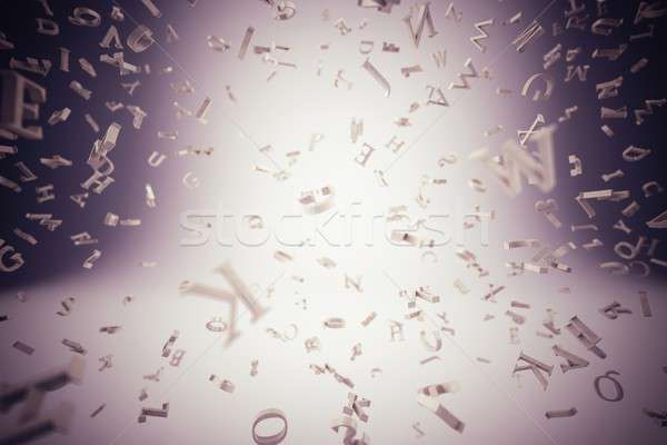 Background of letters Stock photo © alphaspirit