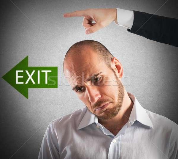 Imprenditore boss uscire business ufficio uomo Foto d'archivio © alphaspirit