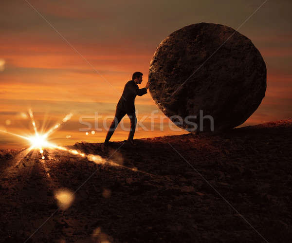Struggle and determination Stock photo © alphaspirit