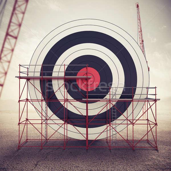 Bouwen business target gemengd media bouw Stockfoto © alphaspirit
