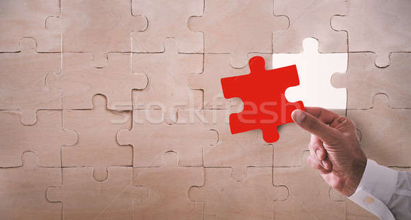 Missing piece of a puzzle Stock photo © alphaspirit
