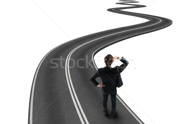 Route objectif 3D affaires Photo stock © alphaspirit
