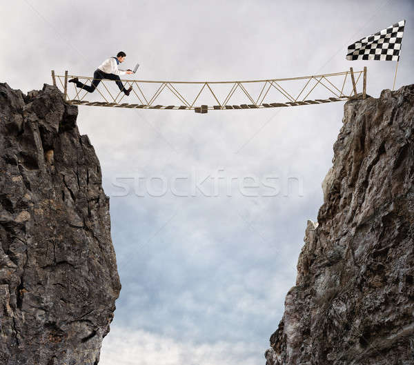 Foto stock: Alcançar · sucesso · difícil · realização · negócio · meta