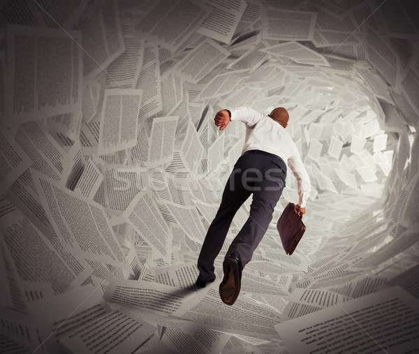 Tunnel of paper Stock photo © alphaspirit