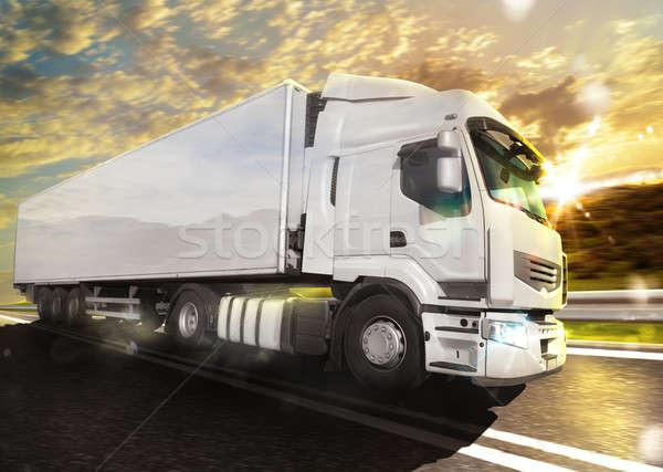 Truck transport Stock photo © alphaspirit