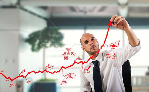 Business statistics uphill Stock photo © alphaspirit