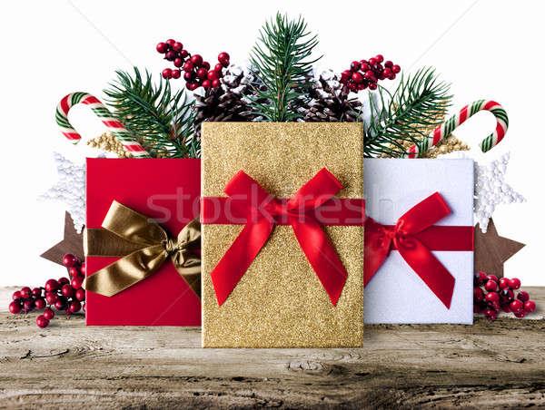 Navidad grunge decoraci n presenta dulces foto stock alphaspirit 7671878 stockfresh - Grune dekoration ...