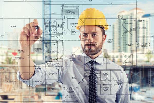 Projektu budować budowy budynku projektu Zdjęcia stock © alphaspirit