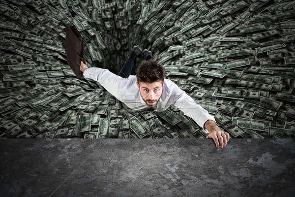 черная дыра деньги бизнесмен бизнеса Финансы подчеркнуть Сток-фото © alphaspirit