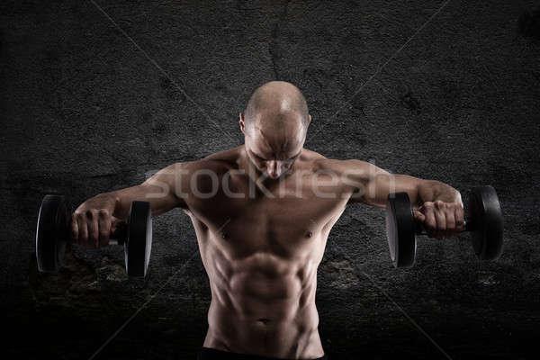 Athletic man workout Stock photo © alphaspirit