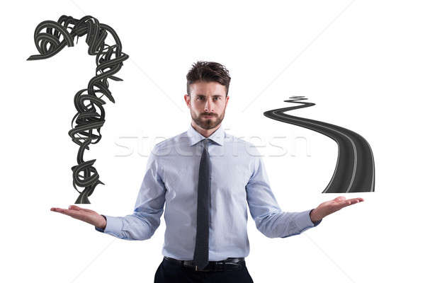 Easy and difficult way for business career Stock photo © alphaspirit