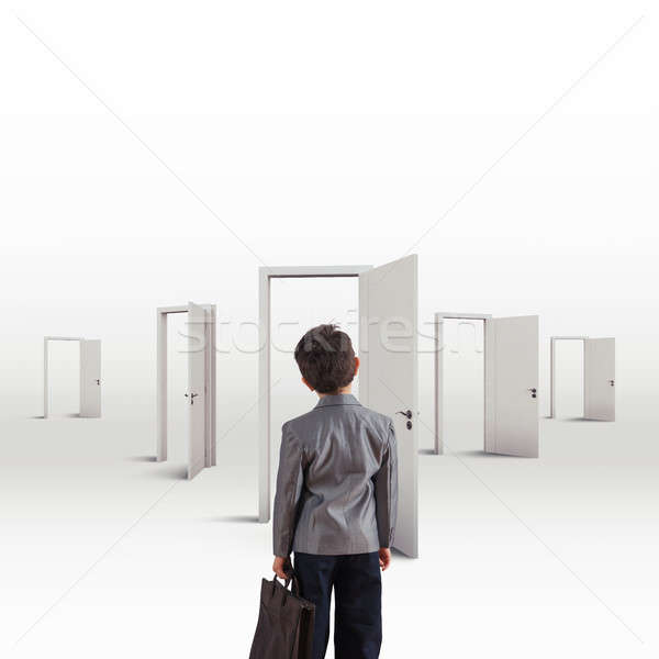 Orientate in choosing a career between many choices Stock photo © alphaspirit