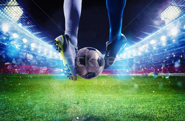 Piłka nożna gracze stadion meczu Zdjęcia stock © alphaspirit