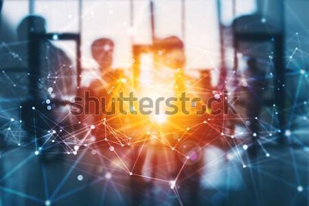 Business team versnellingen teamwerk integratie netwerk Stockfoto © alphaspirit