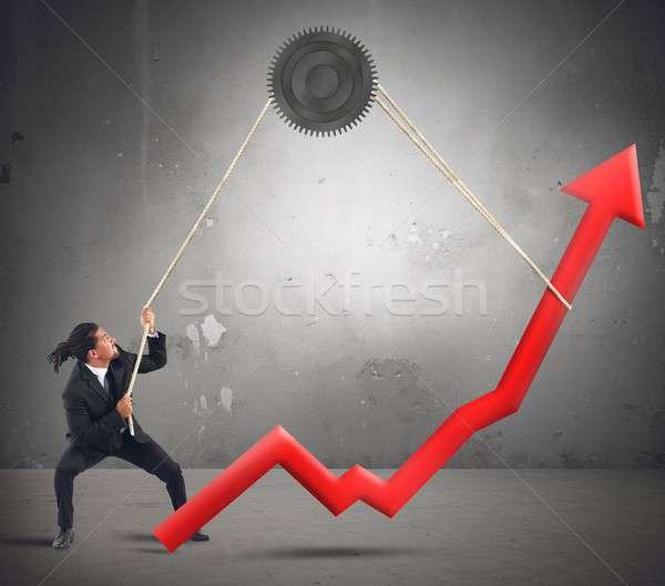 бизнесмен изменений статистика результат работу работник Сток-фото © alphaspirit